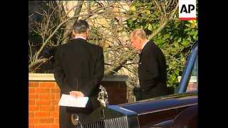 Royal family members attend funeral of Princess Margaret