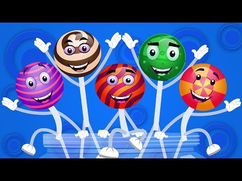 Five Little Lollipops Jumping On The Bed | Nursery Rhymes For Kids