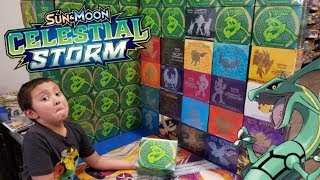 OPENING AN EARLY CELESTIAL STORM ELITE TRAINER BOX!! OUR FAVORITE POKEMON CARDS PRODUCT!!