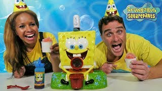 SpongeBob Sno-Cone Maker + Toy Challenge! || Toy Review || Konas2002