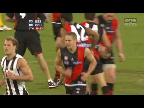 David Zaharakis kicks the winning goal in a memorable ANZAC Day clash.