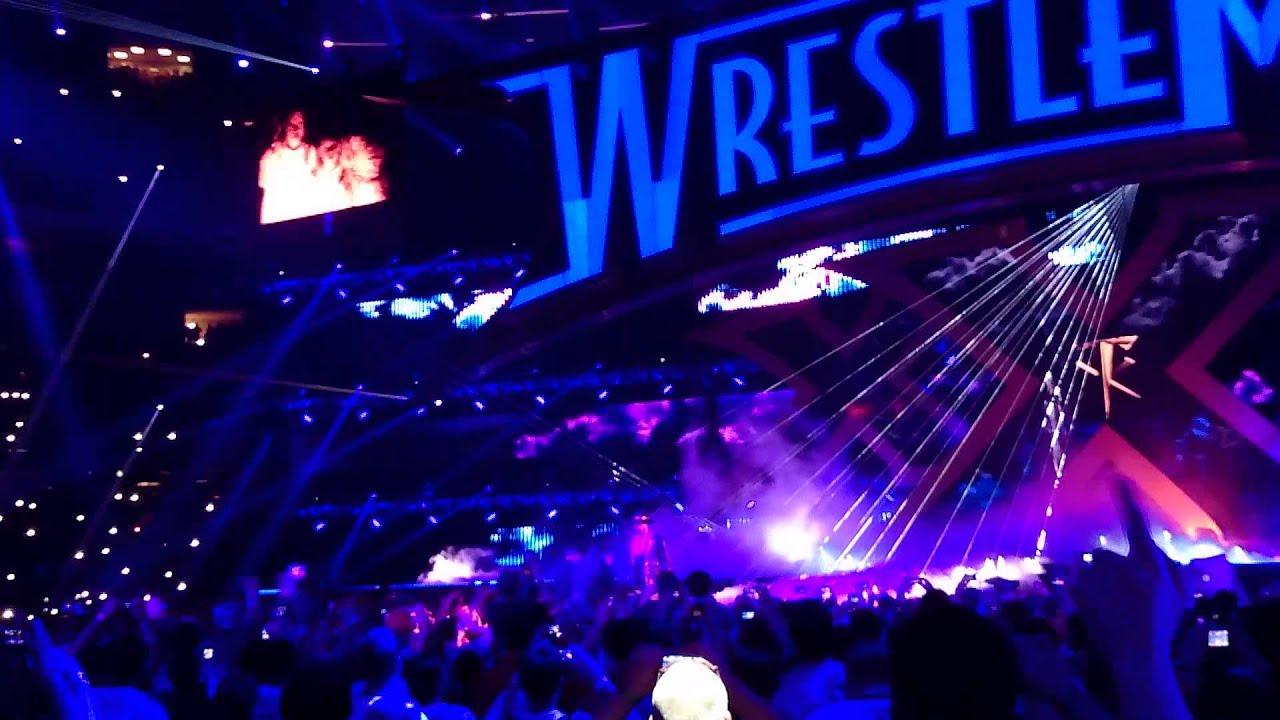 undertaker wrestlemania 30 live entrance