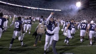 Penn State fans storm the field after Nittany Lions upset No. 2 Ohio State 24-21
