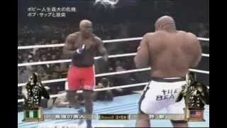 Bob Sapp vs Bobby Ologun - fight video (k-1, mma, muay thai fighting, 2012 year)
