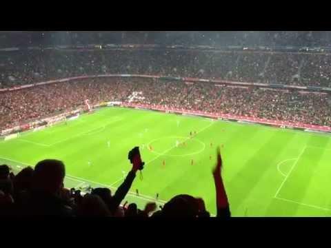 Bayern Munich vs Wolfsburg 22 September 2015- 1st and 2nd goal stadium celebration