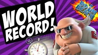 BOOM BEACH WORLD RECORD FASTEST Dr T TAKEDOWN!