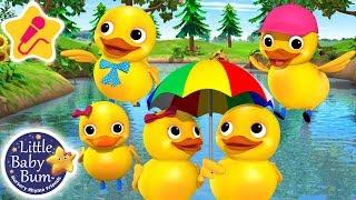Five Little Ducks | KARAOKE for Kids + More Nursery Rhymes & Kids Songs | Little Baby Bum