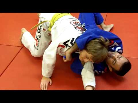 Jiu Jitsu Techniques - Loop Choke From Side Control Image 1