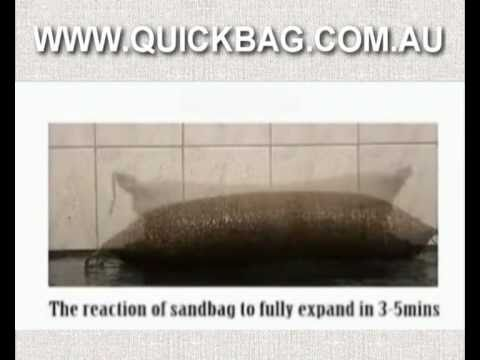 Sandless Sandbags Flood protection quick easy storage - www.quickbag.com.au