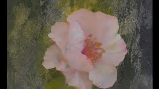 "The Beauty of Oil Painting, Mini Delights Youtube shows, Episode 1 ""Poppy"""