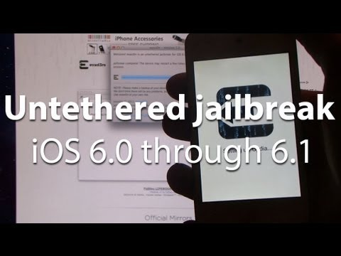 Jailbreak iOS 6.1 iPhone 5. iPad Mini. iPod Touch 5G and all other iOS devices (Windows and Mac)