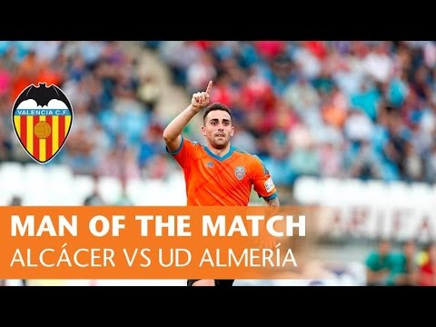 Man of the Match: Alcácer for UD Almería vs. Valencia CF (2-3, 23/0515)