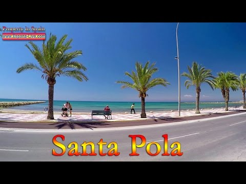 Испания, город курорт Санта Пола, провинция Аликанте, море, пляж Santa Pola, набережная