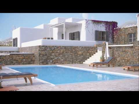 Mykonos luxury villa with Cycladitic architecture and fantastic sea view
