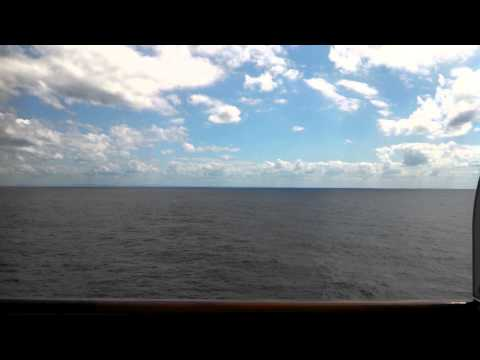 Sailing past Cuba on the Holland America Line