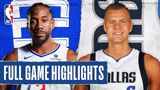 CLIPPERS at MAVERICKS FULL GAME HIGHLIGHTS | August 6, 2020