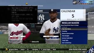 Scoop dan MLB The show franchise Yankees vs Indians game 34