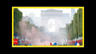 France fans go wild from Paris to Moscow after World Cup win | k production channel