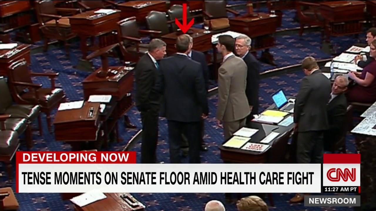 Tension on Senate floor amid health care fight