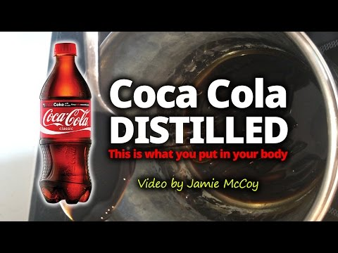 Coca Cola Distilled revealing the raw ingredients in a substance form