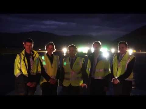 Lighting up Queenstown Airport - switching on the runway lights