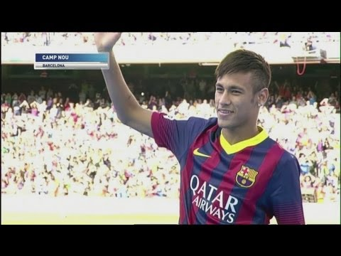Neymar unveiled at Barcelona