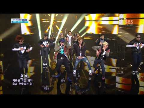 130414 Inkigayo M.I.B - Nod Along