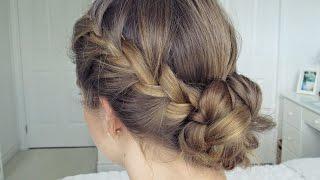Bohemian Braid Updo   Hair Tutorial - Simple & Easy