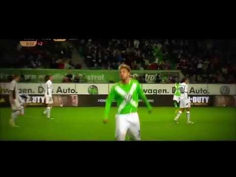 Nicklas Bendtner All Goals Wolfsburg Denmark 2014-2015