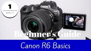 Canon R6 - Basic Guide for Beginners