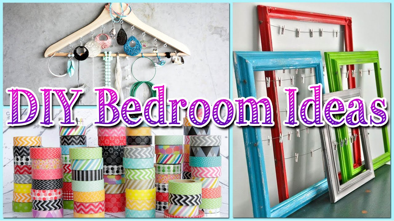 Diy bedroom decor for girls diy jewelry organizer w for Diy room decorations youtube