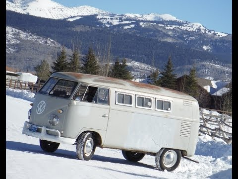 VW Split Window Bus Field Find Lives Again.  Forgotten Volkswagen 1960 Camper