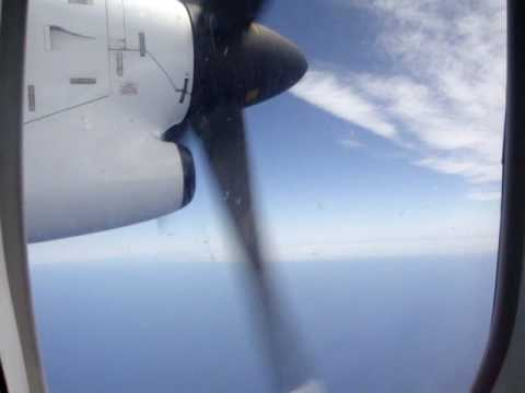 Qantaslink (Qantas) Bombardier Dash 8-300 in mid flight travelling from Devonport (YDPO) airport, Tasmania to Melbourne international airport (YMML)