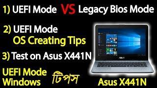 Uefi Boot , Legacy Bios Mode, Asus X441n Boot Problem