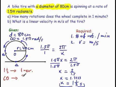 an angular velocity and a Angular Velocity Equation