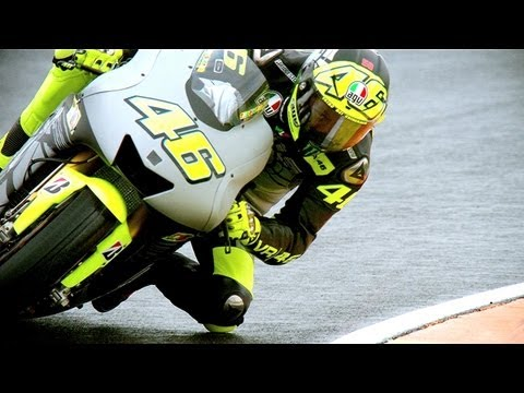 Valentino Rossi gets reacquainted with his Yamaha