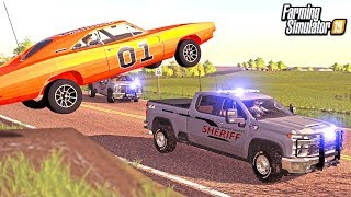 DUKE BOYS ESCAPE ROSCO & BOSS HOGG! (DUKES OF HAZARD ROLEPLAY) | FARMING SIMULATOR 2019