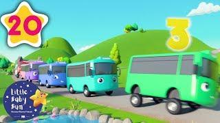 10 Little Buses | +30 Minutes of Nursery Rhymes | Moonbug TV | #vehiclessongs