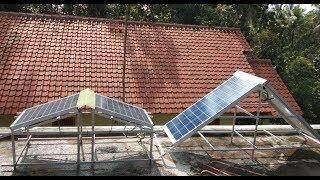 Pembangkit Listrik Tenaga Surya Rumahan dengan Battery Bekas