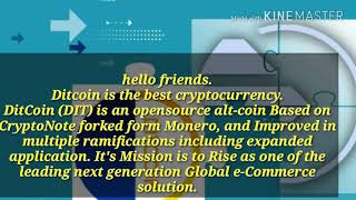Ditcoin real & best cryptocurrency( (ABOUT DITCOIN))