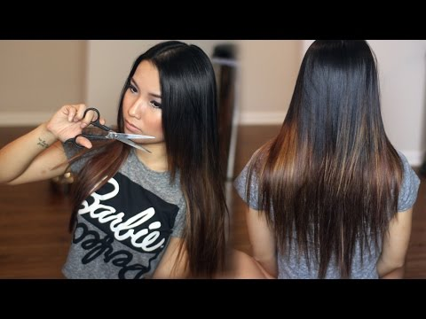 At Home : Trimming Split Ends & Long Layers