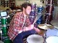 David Zeidman plays his new customized Slingerland bass drum