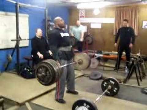 mark felix  deadlift training reps 350kg no straps Image 1