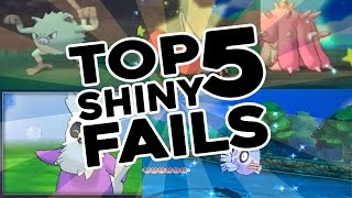 Top 5 Shiny Pokemon Fails!