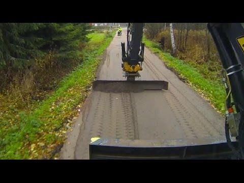 Asfalttipohjan teko kevyen liikenteen väylälle