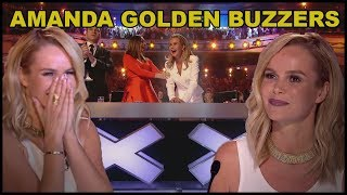 "Top 10 ""AMANDA HOLDEN's GOLDEN BUZZERS"" and BEST MOMENTS EVER!"