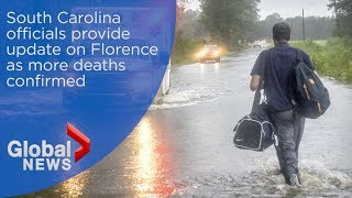 South Carolina officials provide update on Florence
