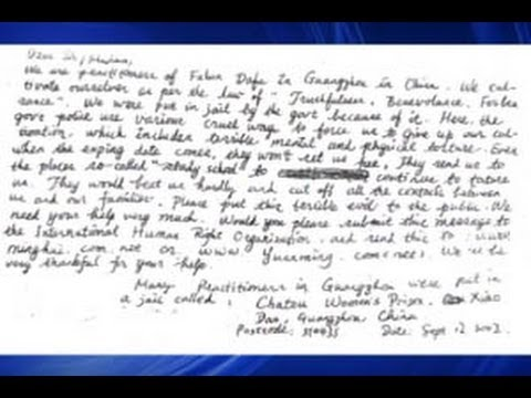 Surat dari Kamp Buruh China muncul Sepuluh Tahun Kemudian