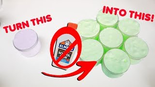 TURNING SMALL SLIMES INTO GIANT BATCHES OF SLIME WITH NO GLUE ~ Slimeatory #499.6