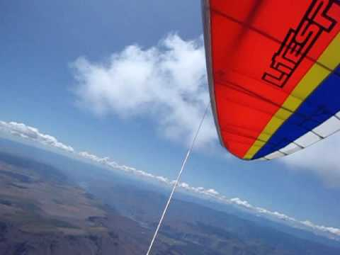 Climb to cloud base  with other hang gliders (chelan)
